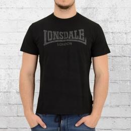 Lonsdale London Herren T-Shirt Logo Kai schwarz