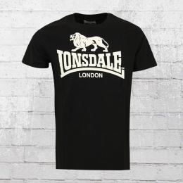 Lonsdale London Herren T-Shirt Logo schwarz