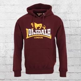Lonsdale London Kapuzensweater Thurning weinrot
