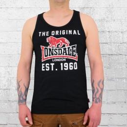 Lonsdale London Leece Tank Top Herren Trägershirt schwarz