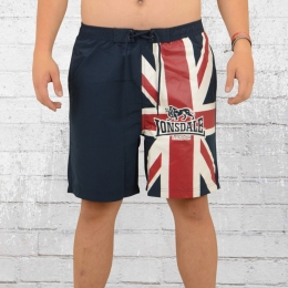 Lonsdale London Männer Bade Shorts Tarmac blau