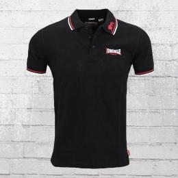 Lonsdale London Männer Polo Shirt Lion schwarz rot weiss