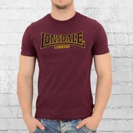 Lonsdale London Männer T-Shirt Classic bordeaux rot