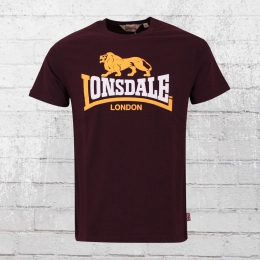 Lonsdale London Männer T-Shirt Holmpton weinrot