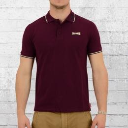 Lonsdale London Polo Shirt Lion bordeaux rot