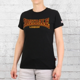 Lonsdale London Ribchester Damen T-Shirt schwarz
