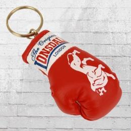 Lonsdale London Schlüsselanhänger Mini Boxhandschuh rot weiss