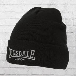 Lonsdale London Strick Mütze Dundee Beanie schwarz