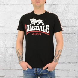 Lonsdale London T-Shirt Herren Battersea schwarz