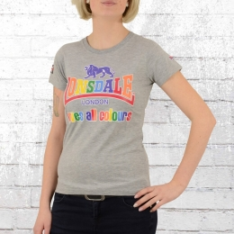 Lonsdale Loves All Colours Damen T-Shirt grau melange