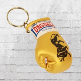 Lonsdale Mini Boxhandschuh Schlüsselanhänger golden