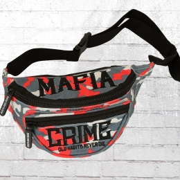 Mafia and Crime Gürteltasche Old Habits Never Die Hip Bag grau rot camouflage