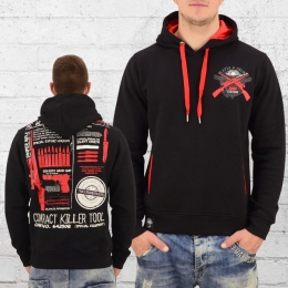 Mafia and Crime Herren Kapuzensweater Weapon schwarz
