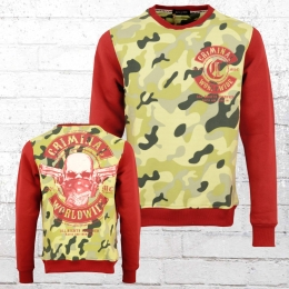 Mafia and Crime Herren Sweater Worldwide camouflage rot