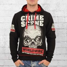 Mafia and Crime Männer Kapuzenpullover Crime Scene schwarz