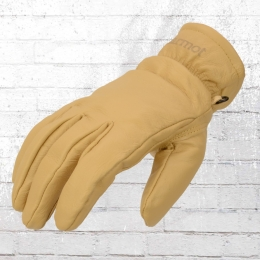 Marmot Leder Handschuhe Basic Worker Gloves beige