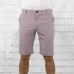 Merc London Herren Karo Short Dania rot blau weiss