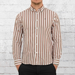 Merc London Herren Langarm Button Down Hemd Elsted weiss