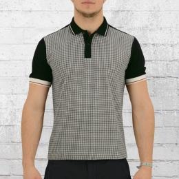 Merc London Herren Polo Shirt Corona schwarz weiss