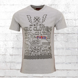Merc London Männer T-Shirt Dwyer grau melange