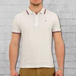 Merc London Polo Shirt Card Männer weiss rot blau