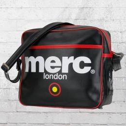 Merc London Retro Tasche Klein Airline schwarz rot