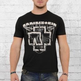 Merchcode Rammstein Bandshirt Herren T-Shirt In Ketten schwarz