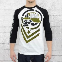 Metal Mulisha Herren T-Shirt Bland Raglan Longsleeve weiss schwarz