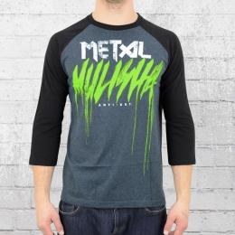 Metal Mulisha Herren T-Shirt Brush Drip Raglan Longsleeve grau