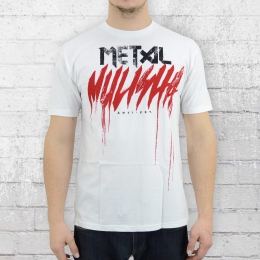Metal Mulisha T-Shirt Herren Brush Drip weiss
