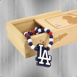 Wood Fellas MLB Team Necklace LA Dodgers Kette navy white red