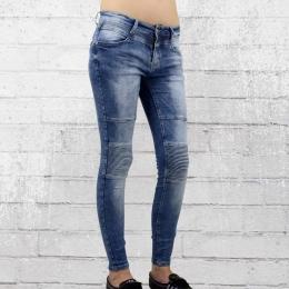 Monday Afternoon Skinny Stretch Jeanshose Frauen blau