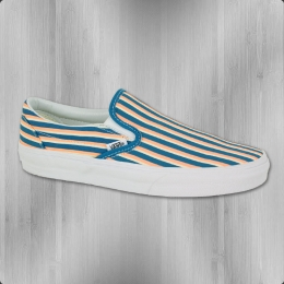 VANS Frauen Schuhe Classic Slip On Multi Stripes teal peach nectar