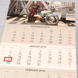 MZA Simson Kalendarium 3 Monatskalender 2019