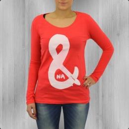 C Like Zebra Damen Longsleeve T-Shirt Na Und coral