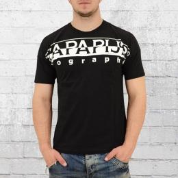 Napapijri Männer T-Shirt Saumur schwarz