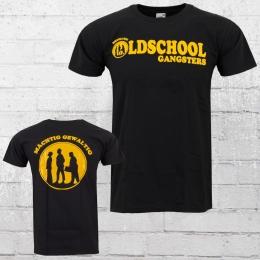 Oldschool Gangsters T-Shirt Herren schwarz