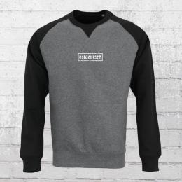 Ostdeutsch Raglan Sweater Männer grau schwarz