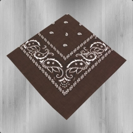 Bandana Paisley Tuch Nickituch dark brown