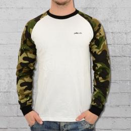 Pelle Pelle Core Ringer Longsleeve T-Shirt weiss woodland