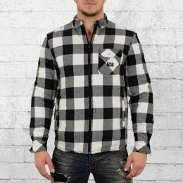 Pelle Pelle Herren Hemd Jacke Clondike Padded Woven Shirt weiss