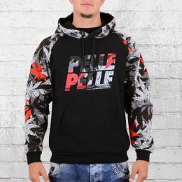 Pelle Pelle Herren Kapuzen Sweater Highliner schwarz bunt