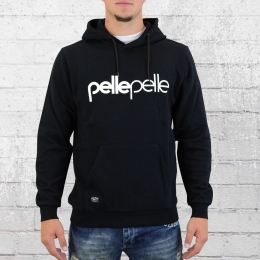 Pelle Pelle Herren Kapuzensweater Back To Basic Hoody schwarz