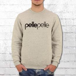 Pelle Pelle Herren Pullover Back To Basics grau melange