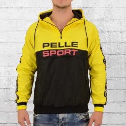 Pelle Pelle Herren Windbreaker Vintage Sport Jacke gelb schwarz