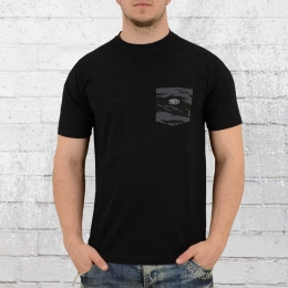 Pelle Pelle Jungle Pocket T-Shirt Herren  schwarz