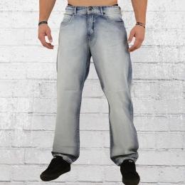 Pelle Pelle Männer Jeanshose Baxter Baggy hellblau gewaschen