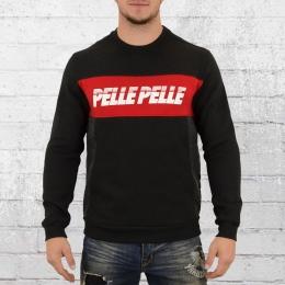 Pelle Pelle Männer Pullover Sayagata Cut Crewneck schwarz