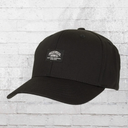Pelle Pelle Snapback Kappe Core Label Curved Cap schwarz