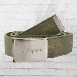 Pelle Pelle Stoff Gürtel Unisex Core Army oliv grün